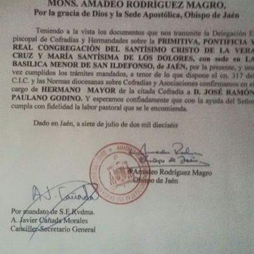 El Obispado ratifica al Gobernador de la Vera Cruz