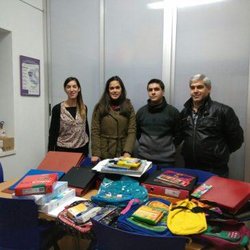 Material escolar entregado a Jáen Solidario