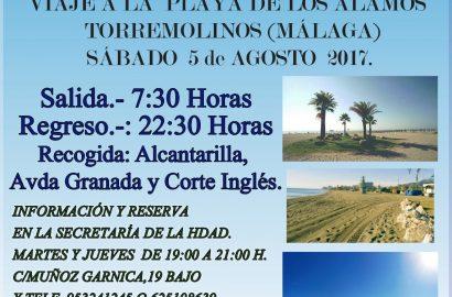 Viaje a la playa de los Álamos (Torremolinos)