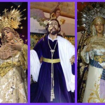 Imágenes ataviadas para la Exaltación de la Cruz.