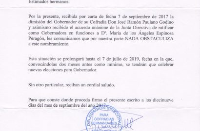 Ratificación del Obispado