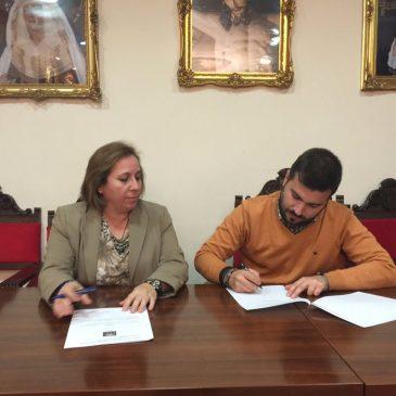 Firma con la Agrupación Musical Cristo de la Columna y Ntra. Sra. de las Lágrimas de Baeza