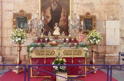Montaje del altar para el Corpus 2018