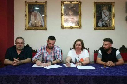 Firma de contrato, con la Agrupación Musical Nuestro Padre Jesús Nazareno.